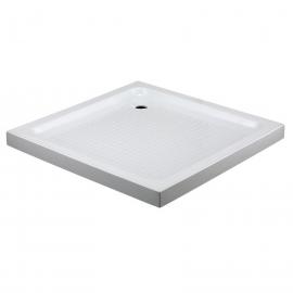 Plato de ducha CUADRADO H-7 0042, ancho especial, largo de 90 cm, en color blanco, Acrilico