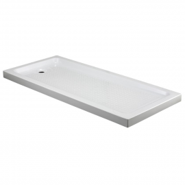 Plato de ducha GME RECTANGULAR 0084 H7, ancho de 80 cm, largo de 110 cm, en color blanco,