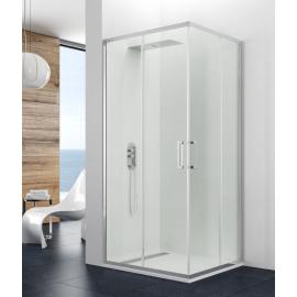 Mampara de ducha PRESTIGE TITAN 0314+0314 apertura al vertice 2 fijos + 2 corrs