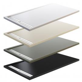 Plato de ducha STYLE PLUS 4900, ancho de 70 cm, largo de 100 cm, en color blanco, Resina carga mineral