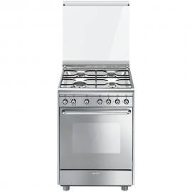 Cocina con horno eléctrico Más de 4 zonas SMEG CX60SV9, Inoxidable