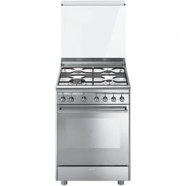 Cocina con horno eléctrico 4 zonas SMEG CX68M81, Inoxidable