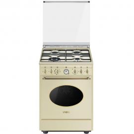Cocina con horno eléctrico 4 zonas SMEG CO68GMP9, Inoxidable