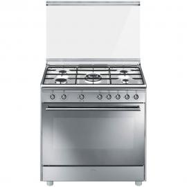 Cocina a gas SMEG SX91SV9 , Más de 4 zonas, Inoxidable,, Zona Gigante