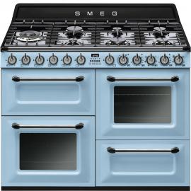 Cocina con horno eléctricoSMEG TR4110AZ , Más de 4 zonas, Azul celeste, Zona Gigante