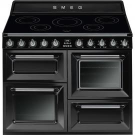 Cocina eléctrica  SMEG Kitchen TR4110IBL , Más de 4 zonas, Negro,