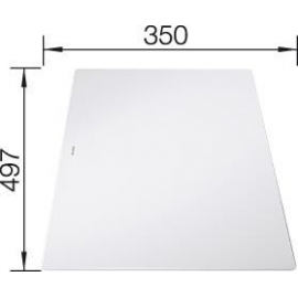 Accesorio para fregadero  BLANCO 234045 TABLA CORTE CRISTAL BLANCA