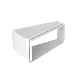 Accesorio para campana  TECSY-AIR  TEC599 SERIE OPTIMO 150 CODO 15º RECTAN. HORIZONTAL 220x90 mm