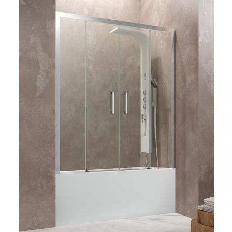 Mampara de baño AKTUAL SPAZIO 0530 frontal 2 fijos + 2 corrs , transparente