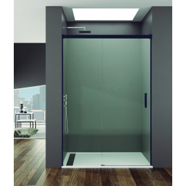 Mampara de ducha BASIC 5411+5494,Perfil Ng frontal 1 fijo+ 1corr, transparente