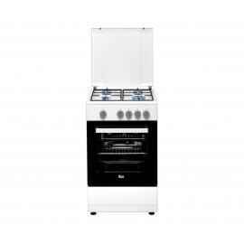 Cocina eléctrica TEKA FS 502 4GG WH LPG, 4 zonas, Blanco