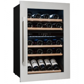 Vinoteca  AVINTAGE AVI 47XDZA ,Inox ,52 Botellas,Intregrabel en Columna,2 zonas