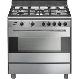 Cocina con horno eléctrico SMEG BG91X9, Más de 4 zonas, Inoxidable, Zona gigante