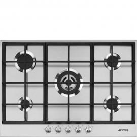 Encimera a gas SMEG PX175, 5 zonas, Inoxidable, acabado marco metalico Zona Gigante