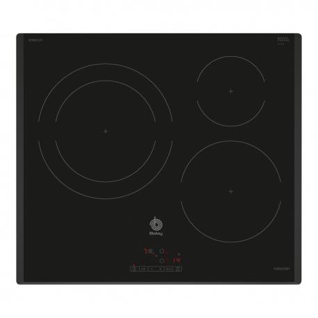 BALAY, 3EB965LR, Encimera, Inducción, Encastrable, 60 cm, 3, Biselada, 60 cm, control táctil de fácil uso, 3 zonas, zona de