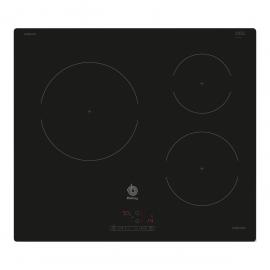 BALAY, 3EB864ER, Encimera, Inducción, Encastrable, 60 cm, 3, Terminación cristal, 60 cm, control táctil de fácil uso, 3 zon