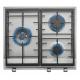 Encimera a gas  TEKA EX/60.1 3G AI AL DR CI NAT (E1), 3 zonas, Inoxidable,
