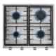 Encimera a gas  TEKA EX 60.1 4G AI AL CI NAT (E1), 4 zonas, Inoxidable,